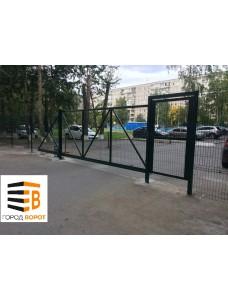 Ворота откатные 3Д сетка 3000*2000
