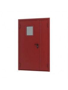 Дверь DoorHan противопожарная 1150*2050 двустворчатая, остекленная.